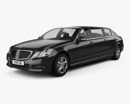 3D model of Mercedes Binz E-class Limousine 2009