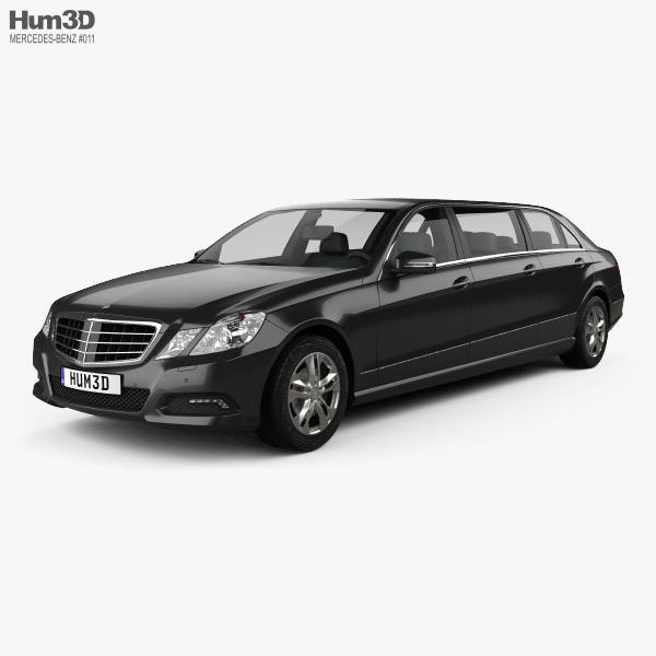 Mercedes Binz E-class Limousine 2009 3D model