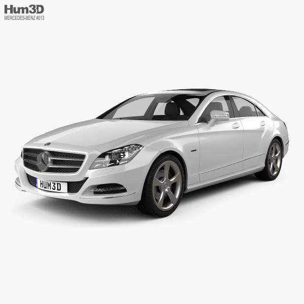 3D model of Mercedes-Benz CLS-Class (W218) 2012