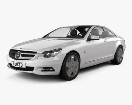 3D model of Mercedes-Benz CL-Class W216 2011