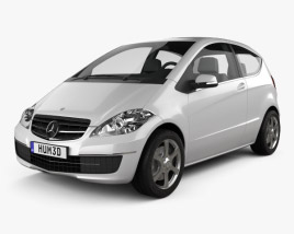 3D model of Mercedes-Benz A-Class W169 Coupe 2010