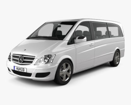 3D model of Mercedes-Benz Viano Extralong 2011