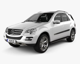 3D model of Mercedes-Benz ML class 2011