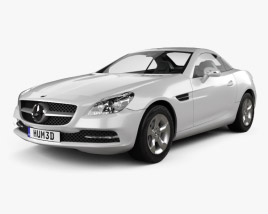 3D model of Mercedes-Benz SLK-Class (R172) 2012