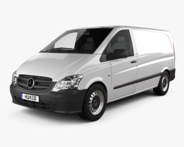 3D model of Mercedes-Benz Vito W639 Panel Van Long 2011