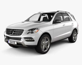 3D model of Mercedes-Benz M-Class 2012