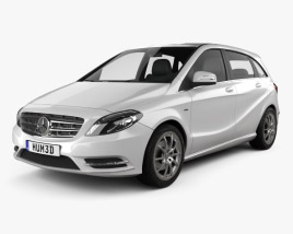 3D model of Mercedes-Benz B-class 2012