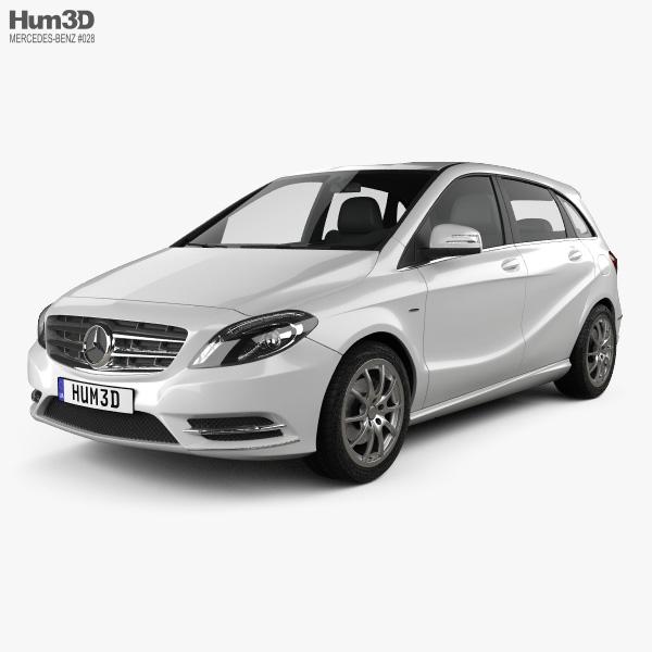 3D model of Mercedes-Benz B-class 2012