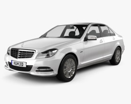 3D model of Mercedes-Benz C-class sedan 2012