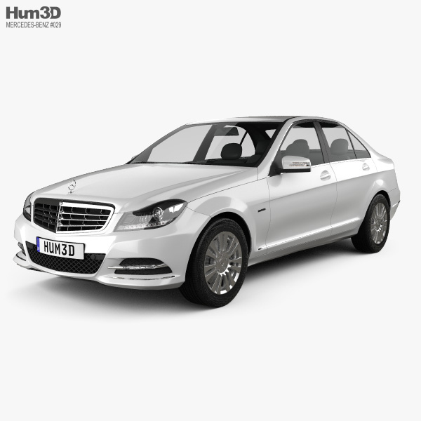 Mercedes-Benz C-class sedan 2012 3D model