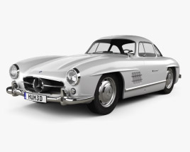 3D model of Mercedes-Benz 300 SL Gullwing 1954