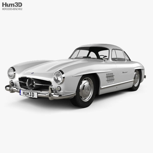 Mercedes-Benz 300 SL Gullwing 1954 3D model