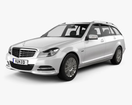 3D model of Mercedes-Benz C-class Estate 2012
