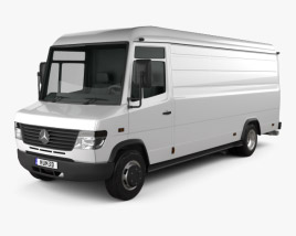 3D model of Mercedes-Benz Vario Panel Van LWB High Roof 2011