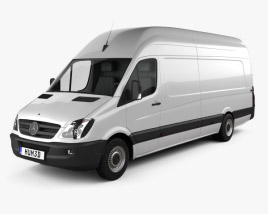 3D model of Mercedes-Benz Sprinter Panel Van Extralong 2011