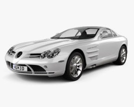 3D model of Mercedes-Benz SLR McLaren 2005
