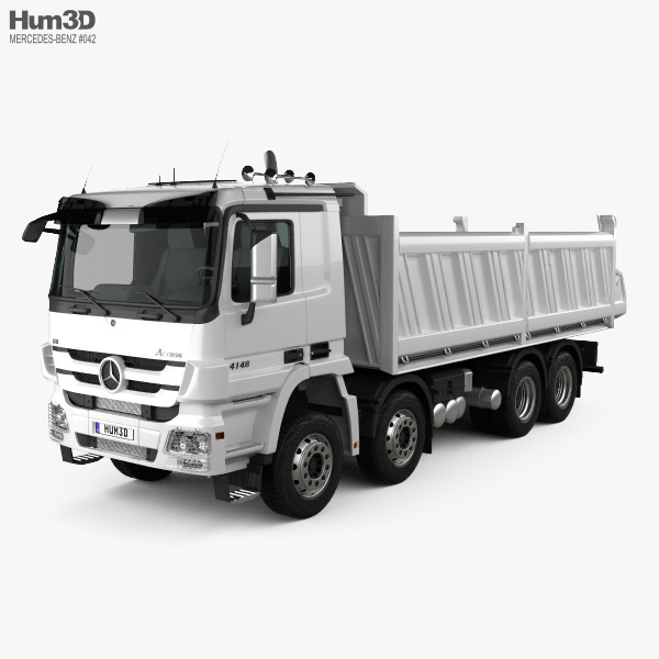 Mercedes-Benz Actros Tipper 4-axle 2011 3D model