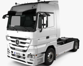 3D model of Mercedes-Benz Actros Tractor 2-axle 2011