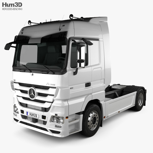 Mercedes-Benz Actros Tractor 2-axle 2011 3D model