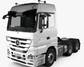 3D model of Mercedes-Benz Actros Tractor 3-axle 2011