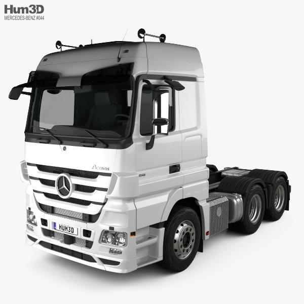 Mercedes-Benz Actros Tractor 3-axle 2011 3D model