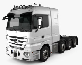 3D model of Mercedes-Benz Actros Tractor 4-axle 2011