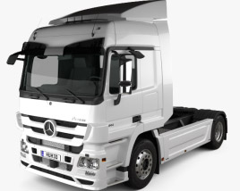 3D model of Mercedes-Benz Actros Tractor Truck 2011