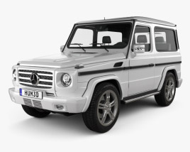 3D model of Mercedes-Benz G-Class 3-door 2011