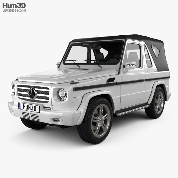 3D model of Mercedes-Benz G-Class Cabriolet 3-door 2011