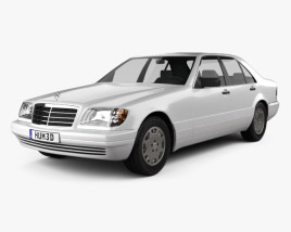 3D model of Mercedes-Benz S-class (W140) 1999