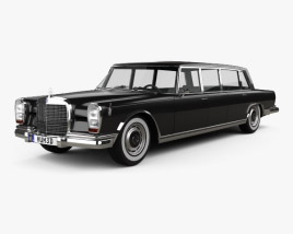 3D model of Mercedes-Benz 600 W100 Pullman 1964