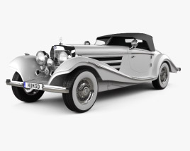3D model of Mercedes-Benz 500K Special Roadster 1936
