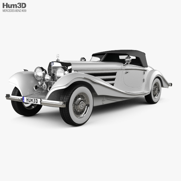 Mercedes-Benz 500K Special Roadster 1936 3D model