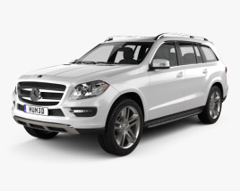 3D model of Mercedes-Benz GL-Class X166 2013