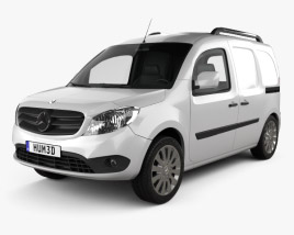 3D model of Mercedes-Benz Citan Delivery Van 2012