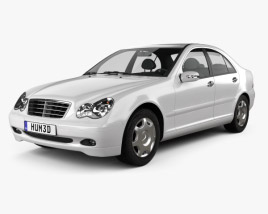 3D model of Mercedes-Benz C-class (W203) sedan 2005