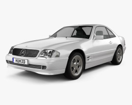 3D model of Mercedes-Benz SL-class (R129) 2002