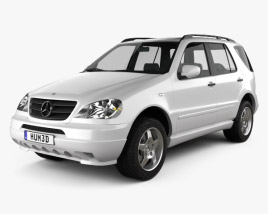 3D model of Mercedes-Benz M-Class (W163) 1997