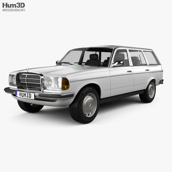Mercedes-Benz E-Class W123 estate 1975 3D model