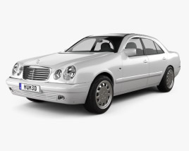 3D model of Mercedes-Benz E-Class sedan (W210) 1996