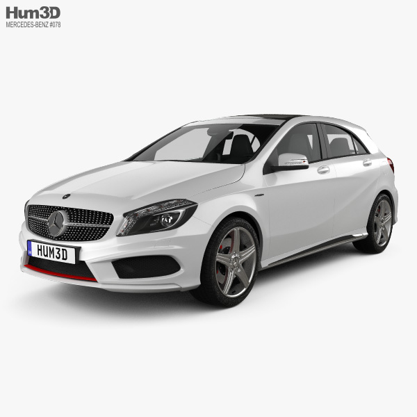 Mercedes-Benz A-class with HQ interior 2013 3D model