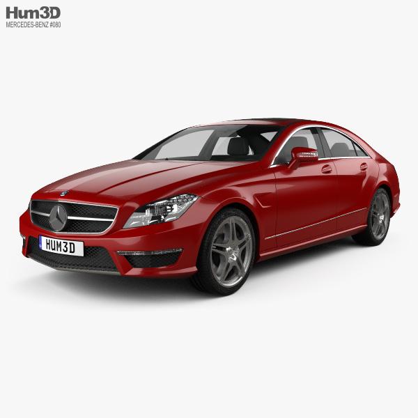 3D model of Mercedes-Benz CLS-Class 63 AMG 2012