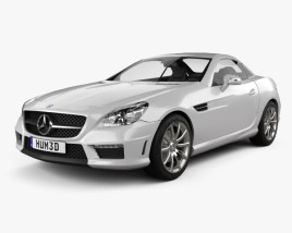3D model of Mercedes-Benz SLK-class 55 AMG 2012