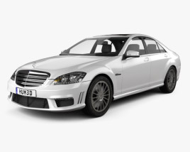 3D model of Mercedes-Benz S-class 65 AMG 2012