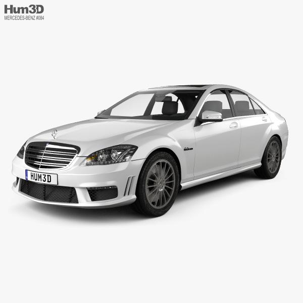 3D model of Mercedes-Benz S-class 65 AMG 2012