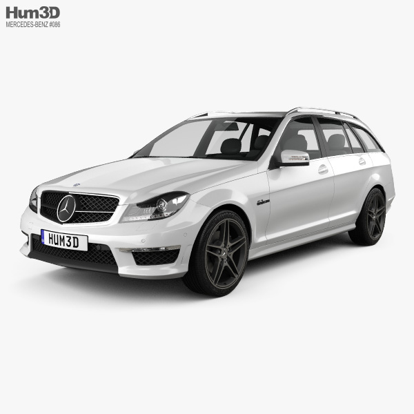 Mercedes-Benz C-class 63 AMG estate 2012 3D model