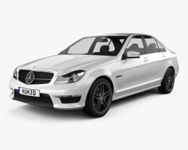 3D model of Mercedes-Benz C-Class 63 AMG sedan 2012