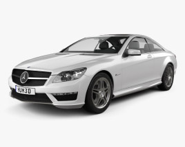 3D model of Mercedes-Benz CL-Class 65 AMG 2012