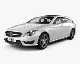 3D model of Mercedes-Benz CLS-Class 63 AMG Shooting Brake 2013