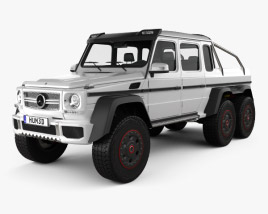 3D model of Mercedes-Benz G-Class 6x6 AMG 2013